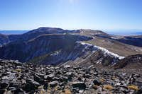 Looking south toward Mt. Jefferson's taller North Summit in Nevada; late Nov. 2020