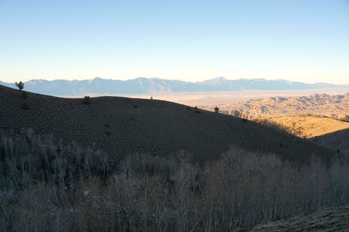 Afternoon descent of Mt. Jefferson's (Nevada) north side; late Nov. 2020