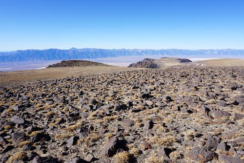 Looking northwest toward the Toiyabe Range from Nevada's Mt. Jefferson. Arc Dome is the highest peak in the picture and of the Toiyabe Range. Late Nov. 2020