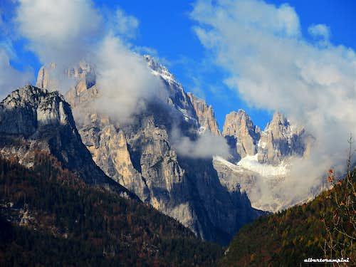 Southern Brenta Dolomites from Molveno