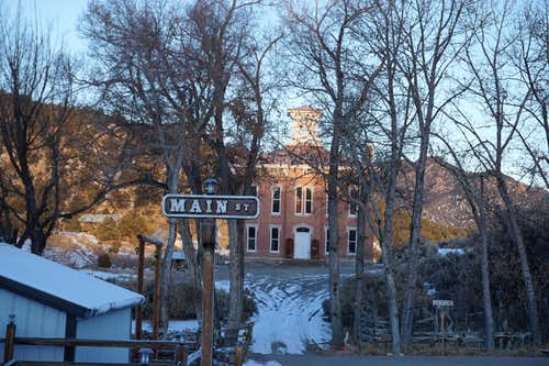 Historic courthouse of Central Nevadan ghost town Belmont (though some people still live there)