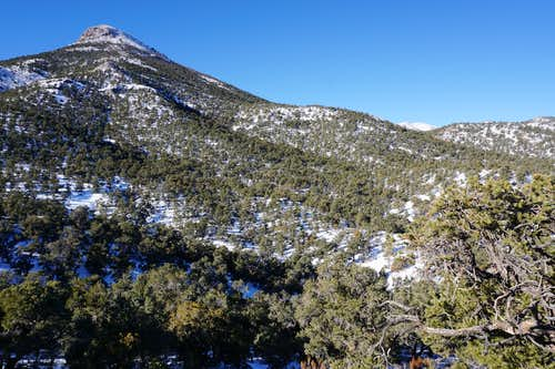 Approaching unnamed peak on west side of Monitor Valley