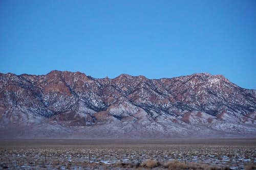 Near the south, east-facing end of Toiyabe Range, in Central Nevada