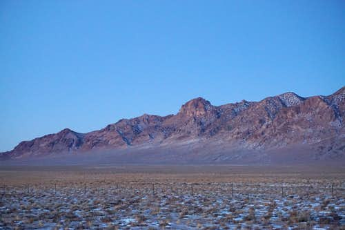 Extreme south end of Toiyabe Range, in Central Nevada
