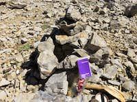 Summit cairn and register - Bristlecone Peak