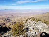 Looking north towards Mesquite