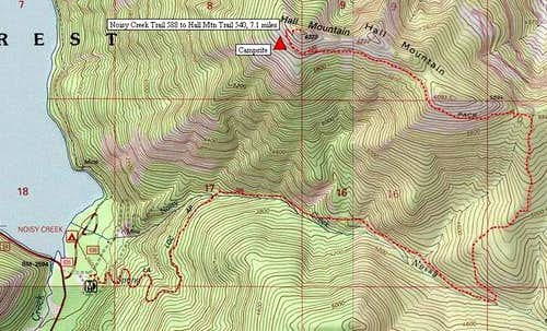 Topo map shows 5.8-mile-long...