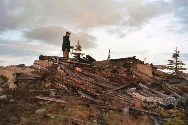 Ruins of the old fire lookout...