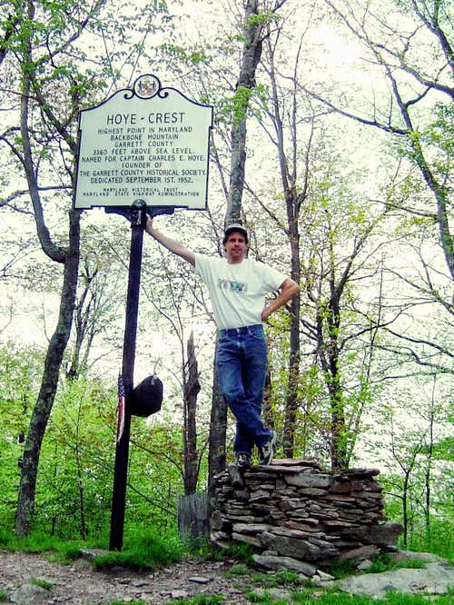Hoye Crest is the highest point of Backbone Mountain and the high point of MD