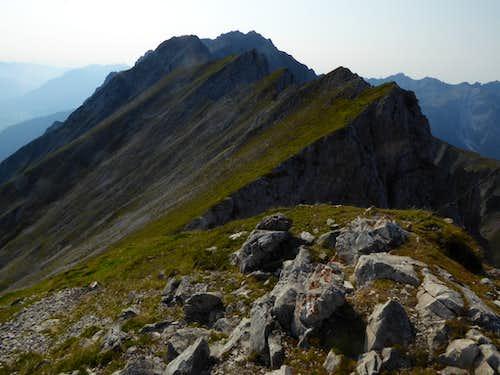 Traverse Route Wannig - Handschuhspitzen