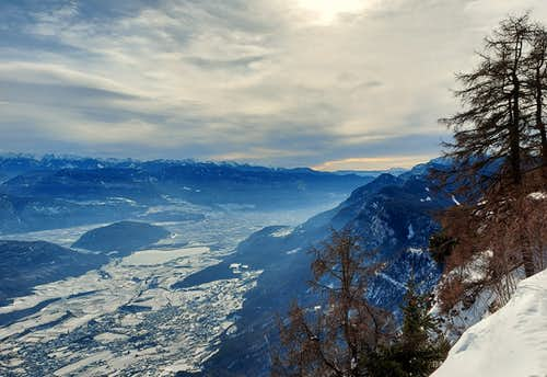 The Adige valley seen from Monte Penegal
