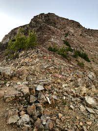 Chossy finish on Krag peak