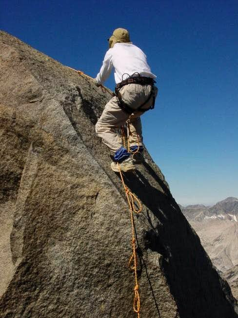 Climbing the north side of...