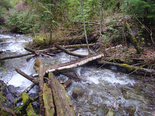 This log bridge crosses Noisy...