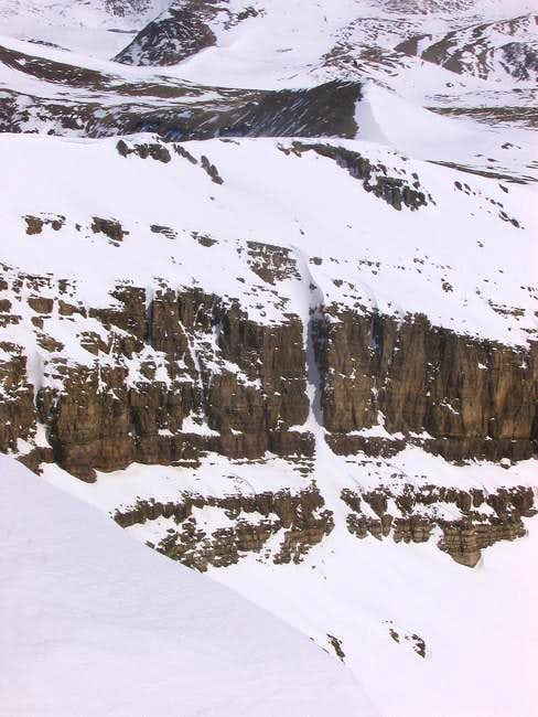 A close-up of the couloir...