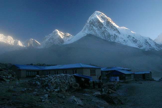 Morning-view on Pumori from...