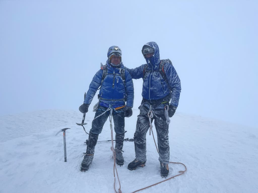 Andy and I on the summit