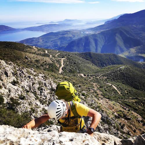 The Long Run IV+/V- UIAA 900 m. | Climbing the South-East Ridge of Mount Ortholithi (Greece)