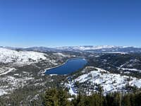 Donner Lake from Donner Peak summit