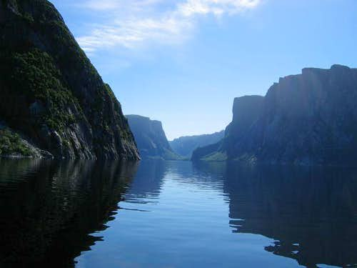 Boat ride into Western Brook...