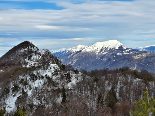 Monte Stivo and Bondone summits seen from Monte Guil