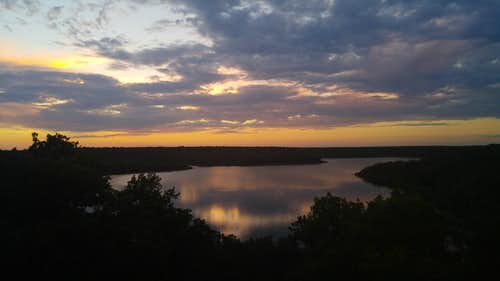 Lake Mineral Wells Sunset