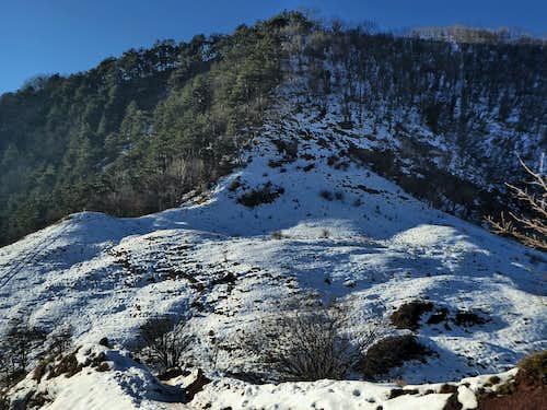 Gola di Sisa from the Northern slope of Alpesisa
