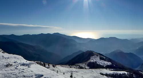 Southward view from Alpesisa summit