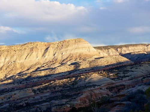 Peak 5750 as viewed from Serpents Trail