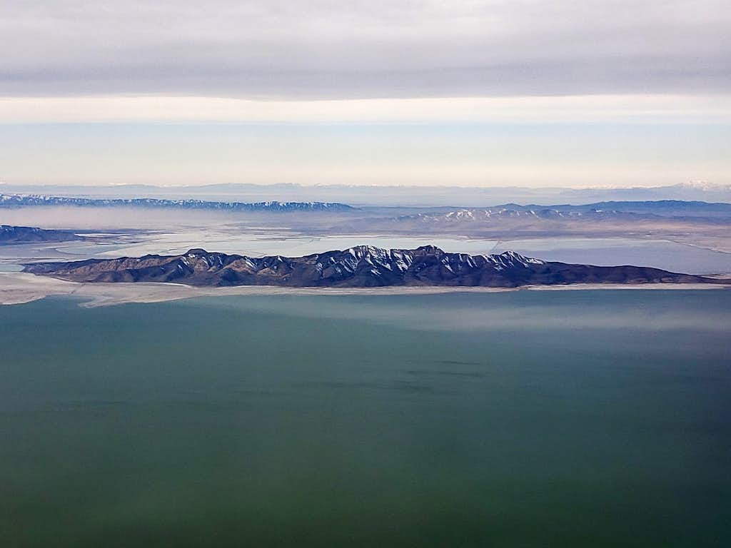 Stansbury Island from plane