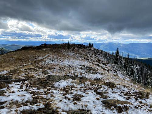 October flurries on summit