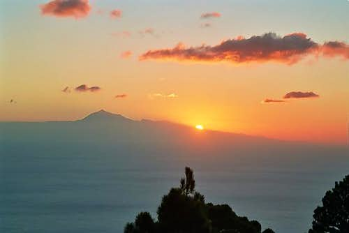 Sunrise over Tenerife - from...