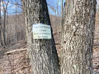 Sign on the trail to Sugarloaf
