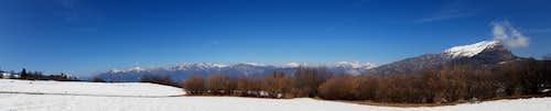 Monte Stivo from Monte Creino