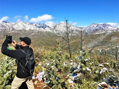 View from the summit towards the Mazatzal Range 3/14/21