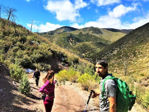 Cornucopia Ridge from the descent road