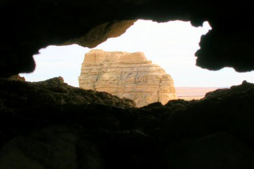 View of Jail Rock Through Another Crevice