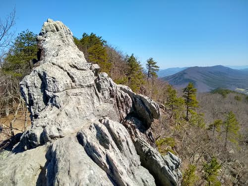 Near Top of Dragon's Tooth