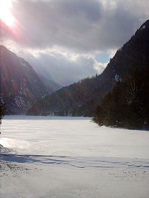 Ausable Lake January 2005...