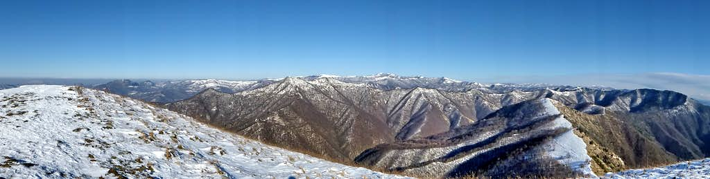 Approximately Northward view from the top of Alpesisa