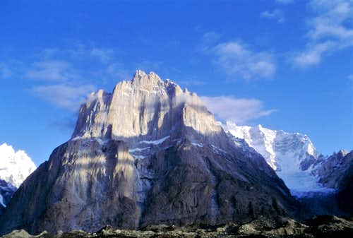 Great Baltoro Cathedral seen from Urdukas (Baltoro Glacier)