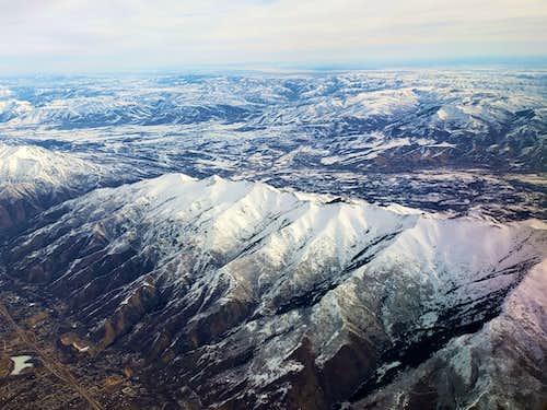 Thurston Peak from plane