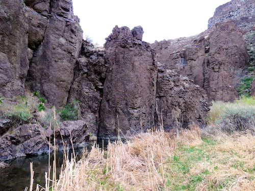 Bottom of canyon