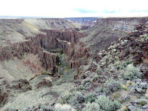 Big Jacks Canyon, Rim & Down to Bottom
