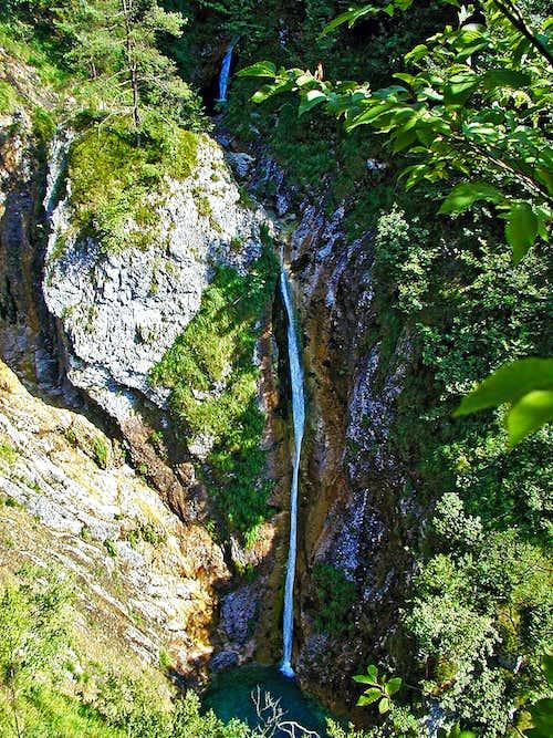 Pršjak waterfall