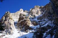 Rugged terrain on east side of Soldier Peak in the grand Rubies