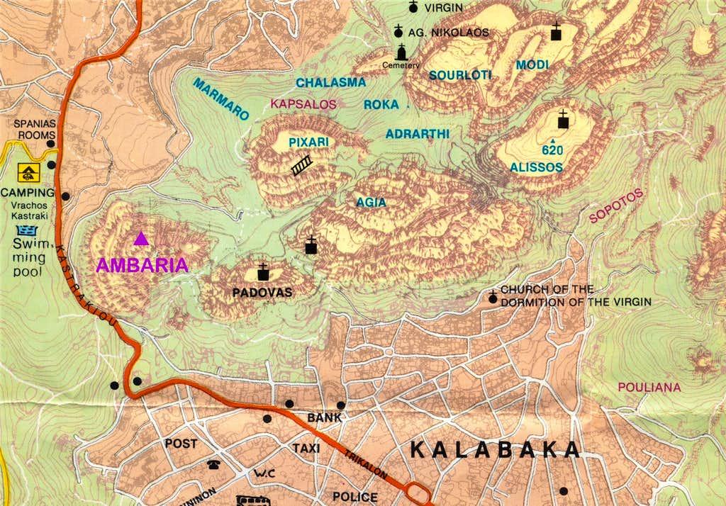 Meteora Southern group map