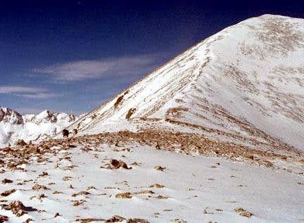 Winter climb of Quandary