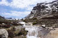 Lamoille Canyon north fork stream near Mt Gilbert