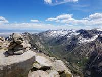 Verdi Peak north looking southeast toward Liberty Pass